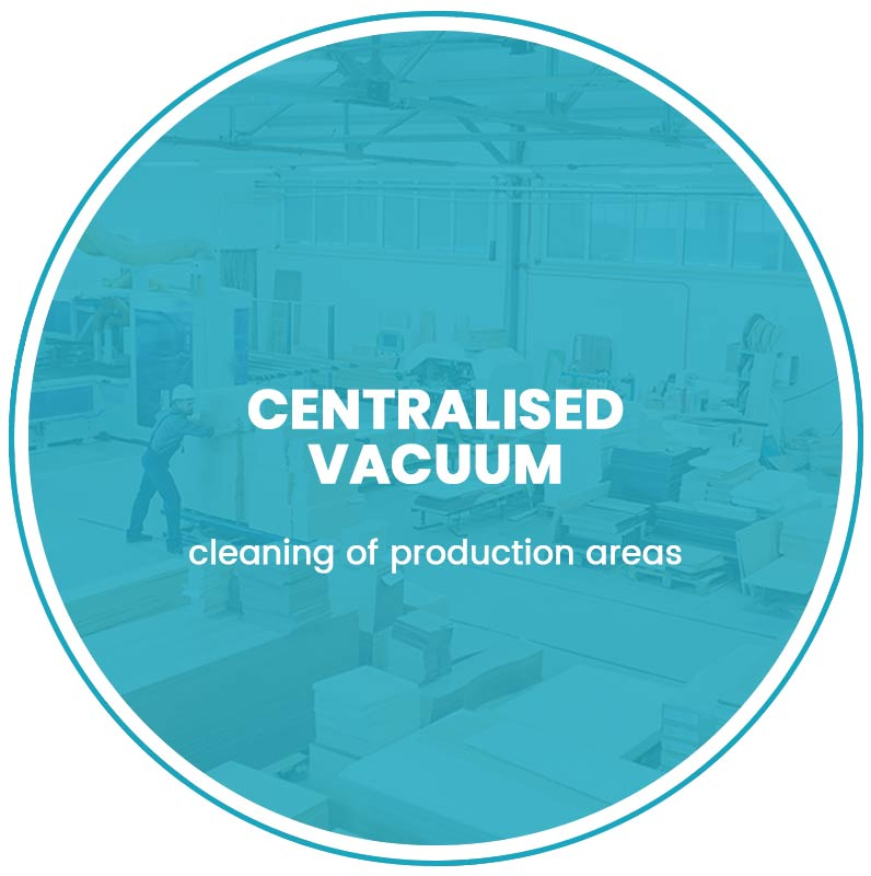 Centralised vacuum extraction